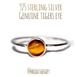 Genuine Tigers Eye Stacking/Stackable Ring